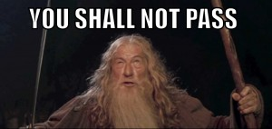 gandalf shall not pass