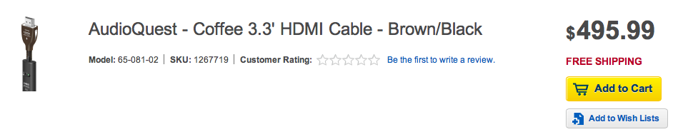 Expensive HDMI cable