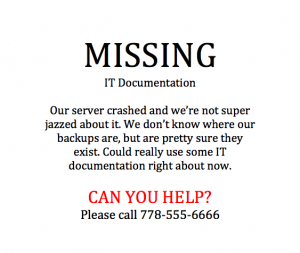 Missing Documentation Poster